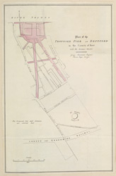 Plan of the Proposed Pier at Deptford in the County of Kent
